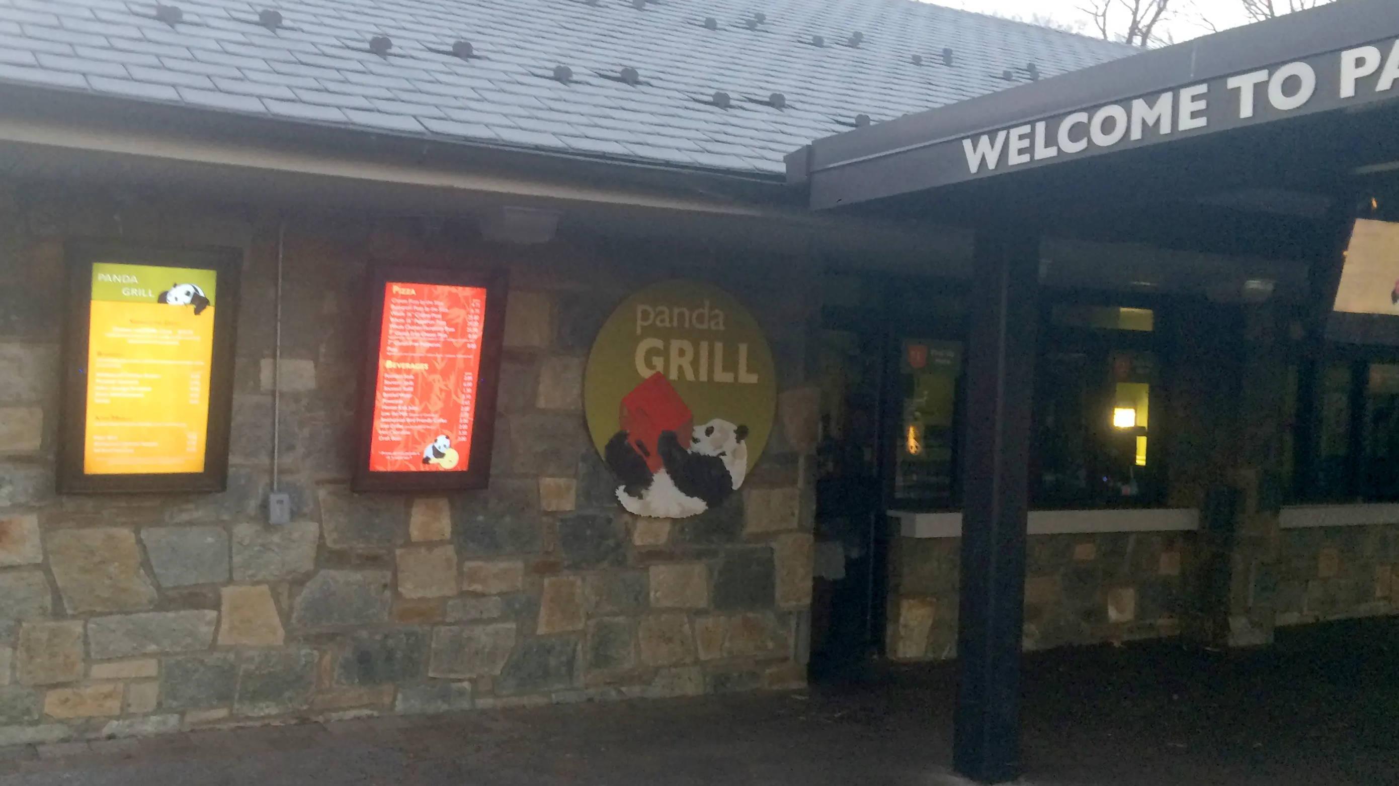Panda Grill restaurant weatherproof TV digital signage cover