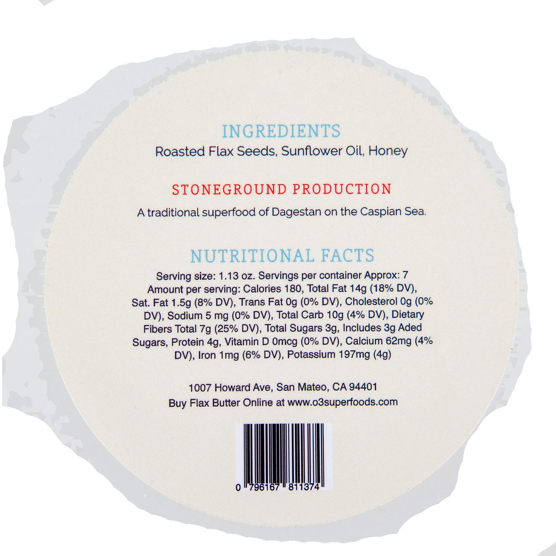 8 oz Container label
