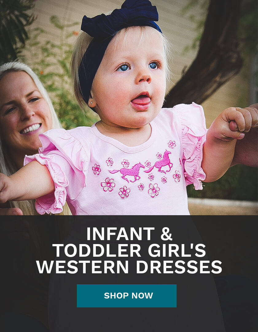 Infant & Toddler Girl's Western Dresses from Cowboy & Cowgirl Hardware