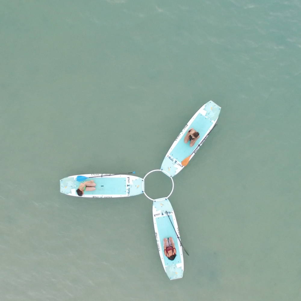 Drone yoga SUP class views