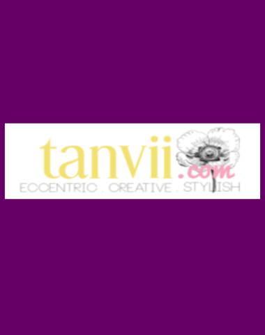 Purple rectangle icon with Tanvii logo in center