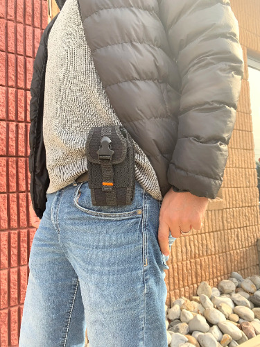 iphone x canvas case holster pouch
